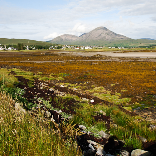 Broadford Bay and Beinn na Caillich, the most southern peak of the Red Cuillins